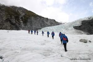 Wanderung auf dem Eis